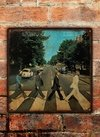 Chapa rústica The Beatles Abbey Road - comprar online