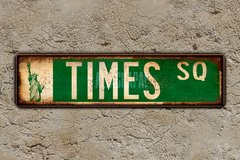 "Chapa calles New York ""Times Square"" - comprar online"