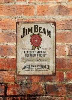 Chapa rústica whiskey Jim Beam