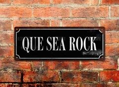 Chapa cartelito: Que sea rock