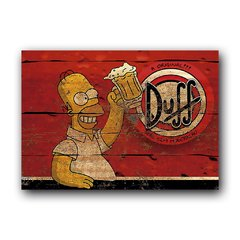 Quadro Decorativo Duff Simpson Retro
