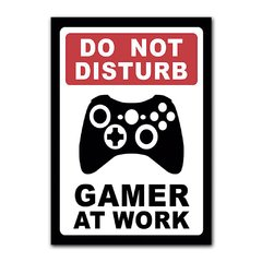 Quadro Decorativo Do Not Disturb Gamer At Work Xbox