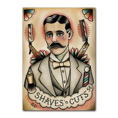 Quadro Decorativo Shaves'n Cuts
