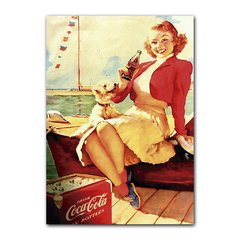 Quadro Decorativo Pin Up Coca-Cola