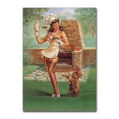 Quadro Decorativo Pin Up Assadora