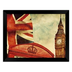 Quadro Decorativo Londres Vintage na internet