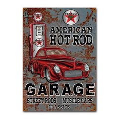 Quadro Decorativo Texaco Hot Rod Garage
