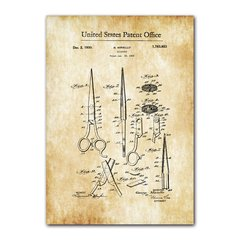 Quadro Decorativo United States Patent Office Vintage