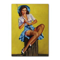 Quadro Decorativo Pin Up Pescando