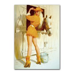 Quadro Decorativo Pin Up Cowgirl