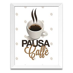 Quadro Decorativo Pausa Coffee na internet