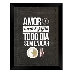 Quadro Decorativo Amor sem Enjoar na internet
