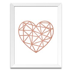 Quadro Decorativo Diamante Rose Gold - comprar online