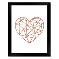 Quadro Decorativo Diamante Rose Gold na internet