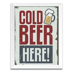Quadro Decorativo Cold Beer Here - comprar online
