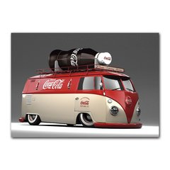 Quadro Decorativo Kombi Coca Cola