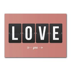 Quadro Decorativo Love You