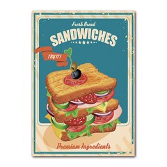 Quadro Decorativo Sandwiches