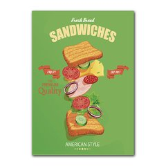 Quadro Decorativo Fresh Bread Sandwiches