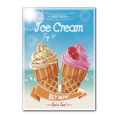 Quadro Decorativo Ice Cream
