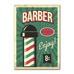 Quadro Decorativo Barber Enjoy