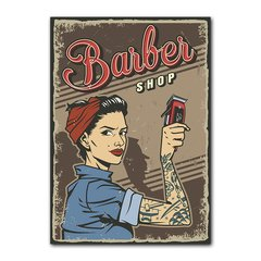 Quadro Decorativo Barbershop Pinup na internet