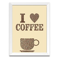 Quadro Decorativo I Love Coffee - comprar online