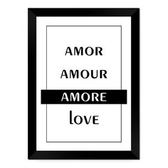 Quadro Decorativo Amor Amour Amore Love na internet
