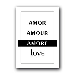 Quadro Decorativo Amor Amour Amore Love