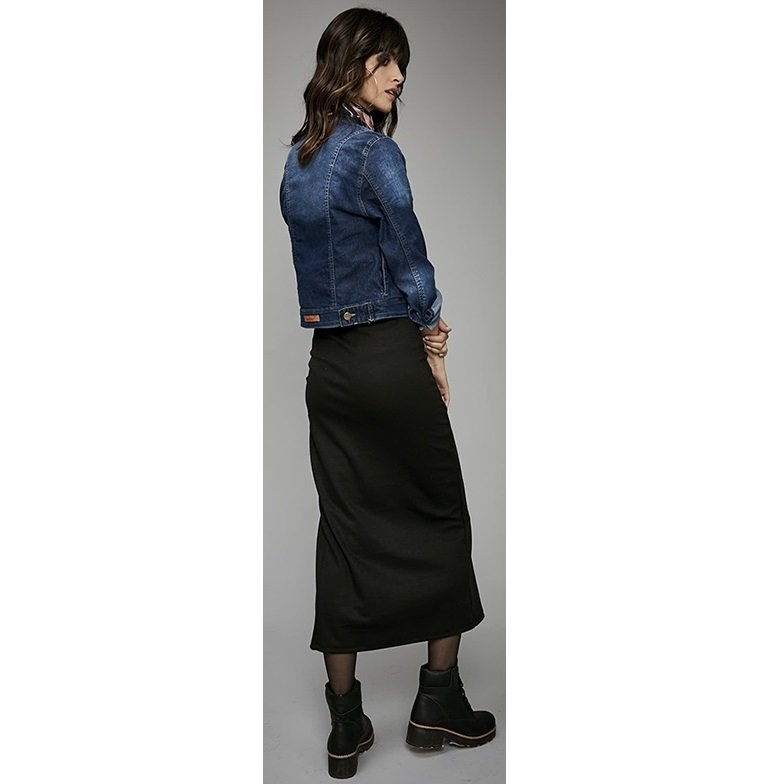 3b841d05f Pollera falda RIMMEL mujer modelo Milano larga tajo delantero negra