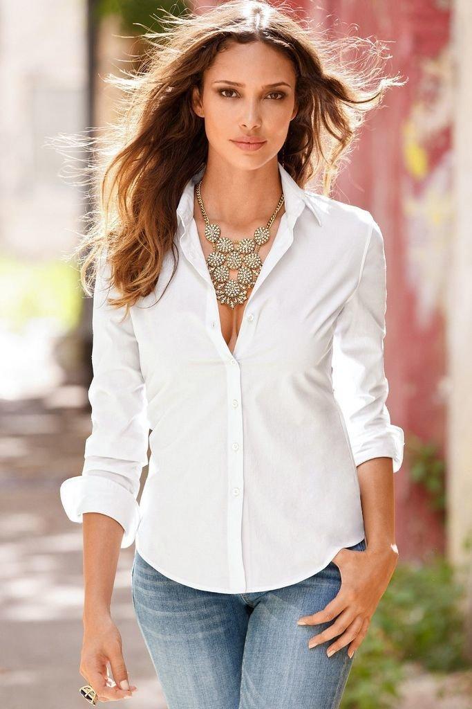 nuevo alto ropa deportiva de alto rendimiento moda de lujo Camisa blusa mujer urbana elegante manga larga blanca negra ...