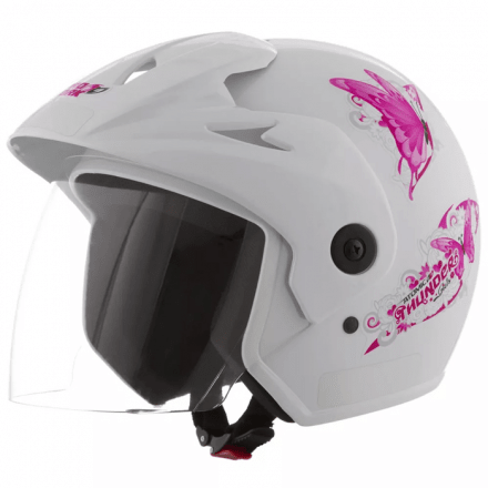 Capacete Atomic Thunder For Girls Branco | 56  Pro Tork - CA