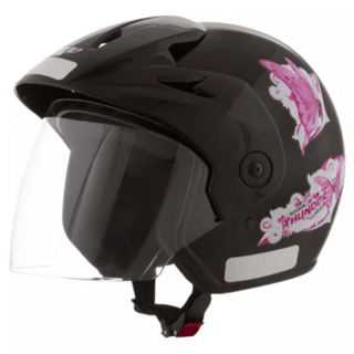 Capacete Atomic Thunder For Girls Preto | 58 Pro Tork - CAP-