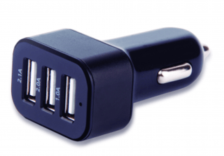 Carregador Automotivo Multilaser com 3 Saídas USB 3.1A mini/