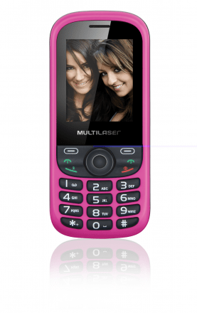 Celular Up 3chip Quad Cam Mp3/4 Fm Preto/rosa - P3275