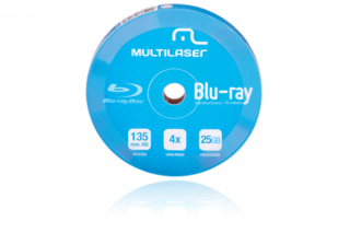 DVD-R Blu-ray Multilaser 4X Shirink Print Branco - DV057 c/