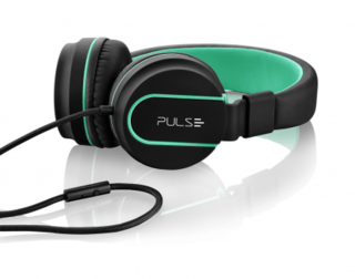 Headphone Pulse On Ear Stereo Preto/Verde - PH159 na internet