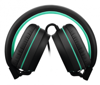 Headphone Pulse On Ear Stereo Preto/Verde - PH159 - Safari Magazine