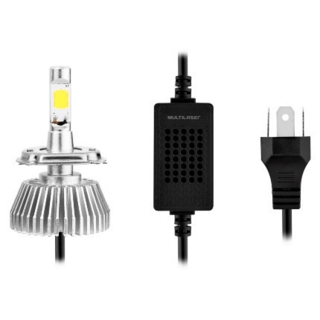 Kit Lâmpada Super LED Automotiva Multilaser HB3 - 12V - 6200