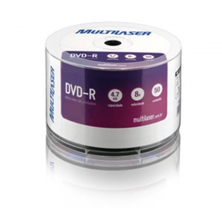 Midia Dvd -R Vel. 08x - 50 Un. Shrink P.Plus Multilaser Dv05