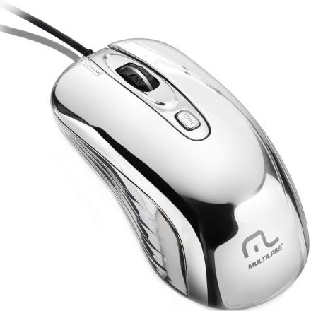Mouse Multilaser Com Led USB Prateado MO228