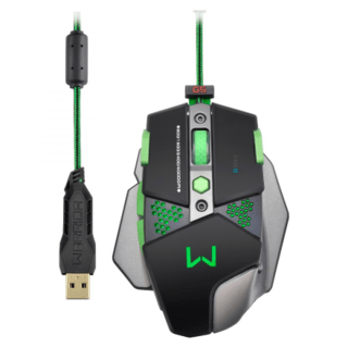 Mouse Multilaser Warrior 9 Botões 4000DPI - MO249