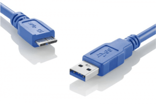 Multilaser Cabo Superspeed 3.0 USB x Micro USB BM Azul WI275