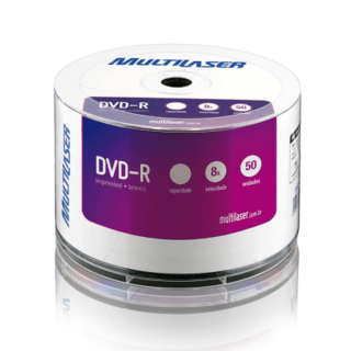 DVD-R 8.5GB 8x Imprímivel Shrink com 50 Multilaser - DV047