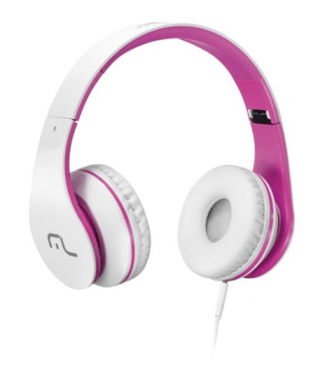 Headphone com Microfone para Celular Rosa Multilaser - PH114