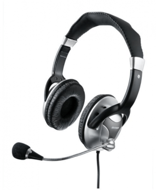 Multilaser Headset Haste Flexivel c/ Microfone metal Preto /