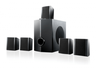 Multilaser Home Theater 5.1 40W RMS Preto SP087