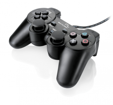 Multilaser Joystick p/ PS2 com Dual Shock JS043
