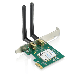 Multilaser Placa de rede wireless PCI Express 300 Mbps RE049
