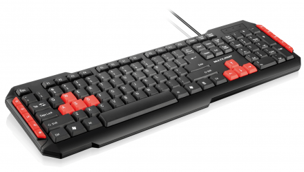Multilaser Teclado Gamer Multimídia Red USB - TC160
